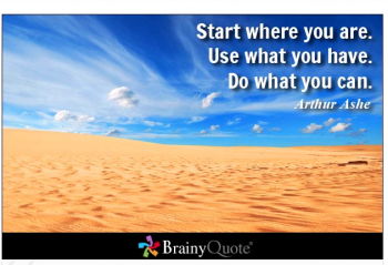 1. Start Where You Are