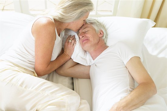 old couple in bed