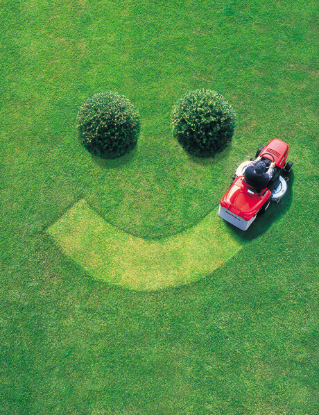 happy lawnmower