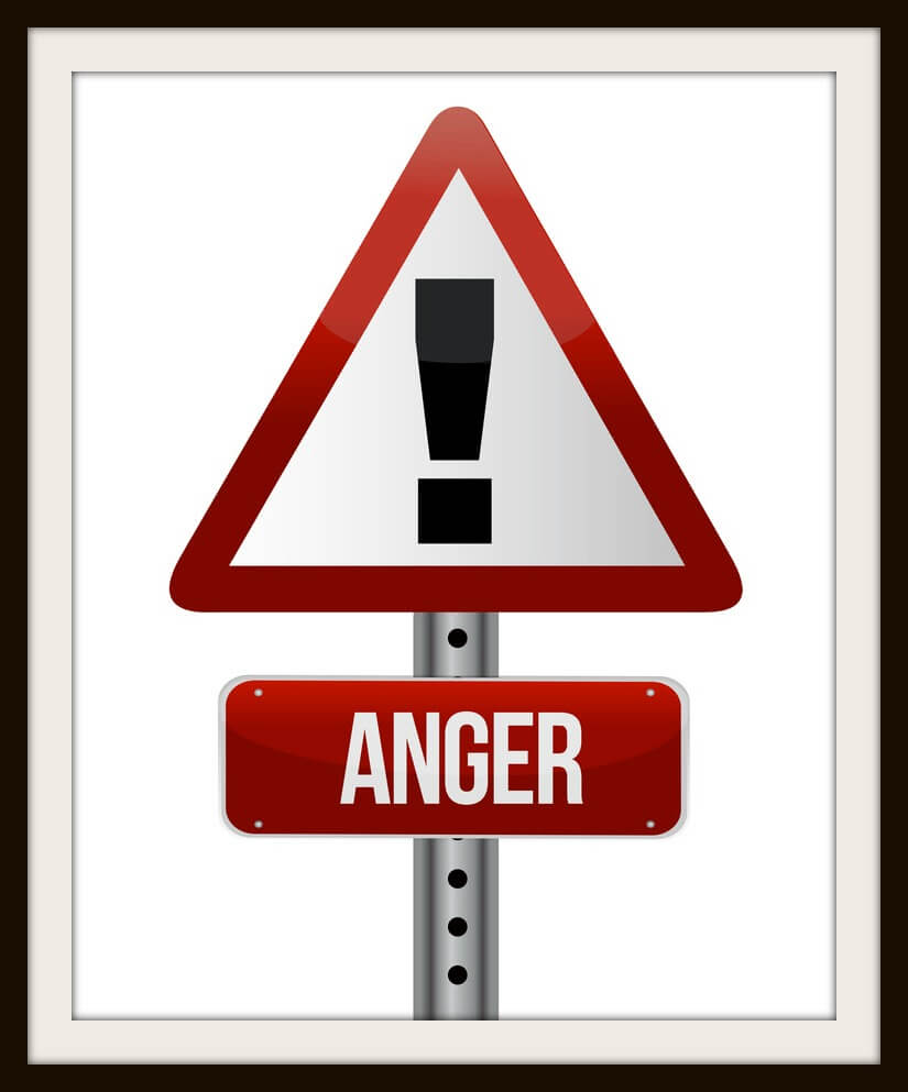 anger sign illustration design over a white background