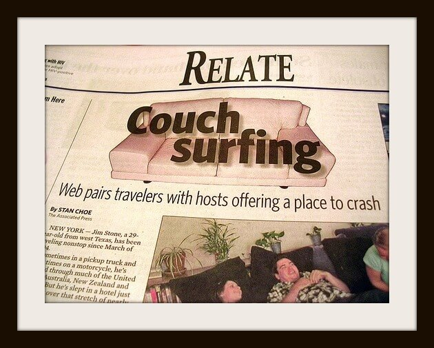 couch surf ScanTheVan