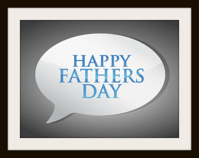 happy fathers day message illustration design over grey