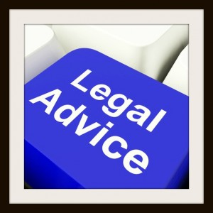 Legal Advice Computer Key In Blue Showing Lawyer Guidance
