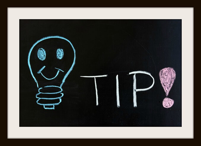 Chalk drawing - concept of tip
