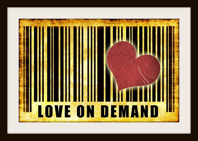 Love on Demand Escort Services Abstract Art