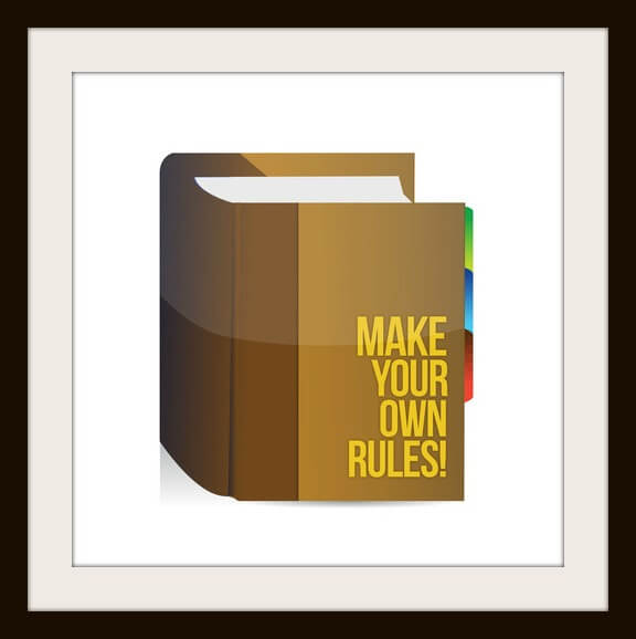 Make Your Own Rules book. illustration design over white