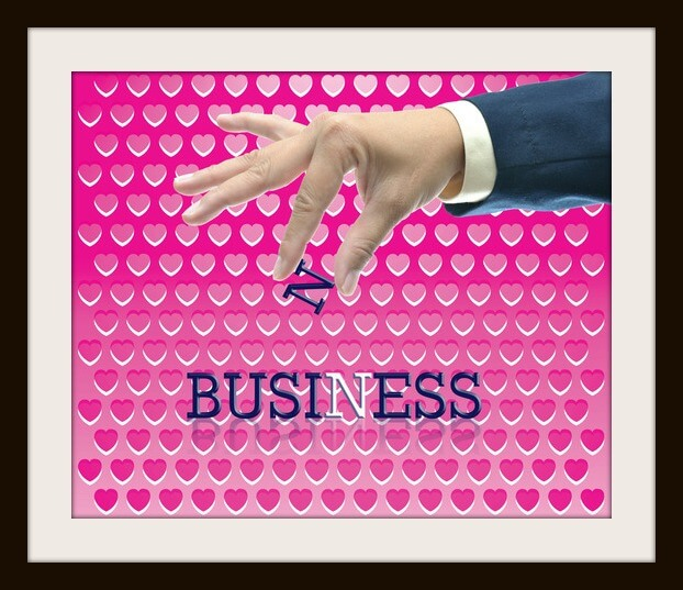 Business idea on pink abstract background.