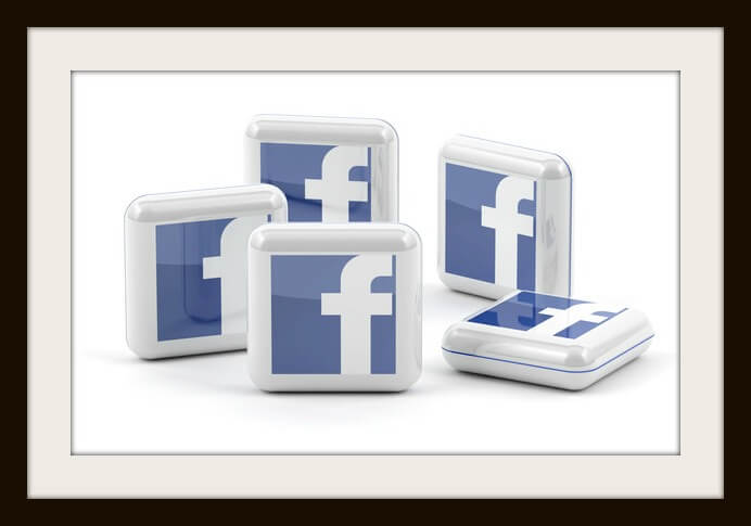 Facebook Buttons isolated on white background