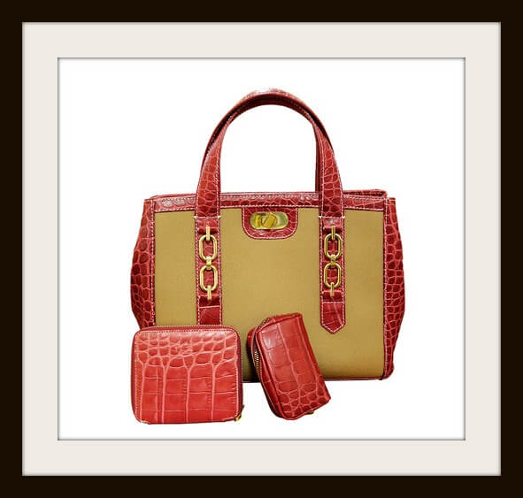 Luxury bag (clipping path) on white background