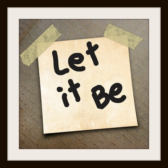 word let it be on the packing paper box texture background