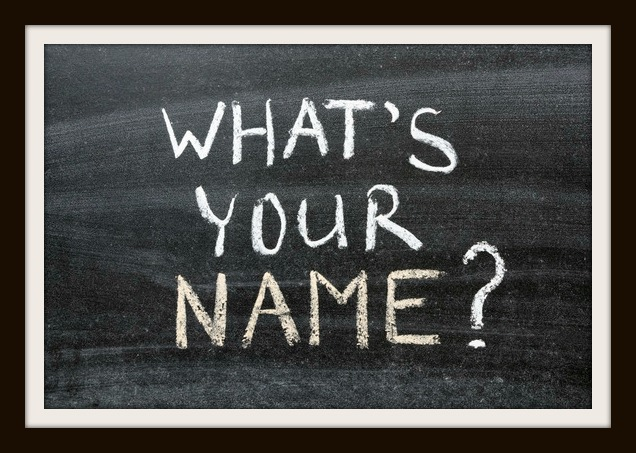 whats your name question handwritten on the school blackboard