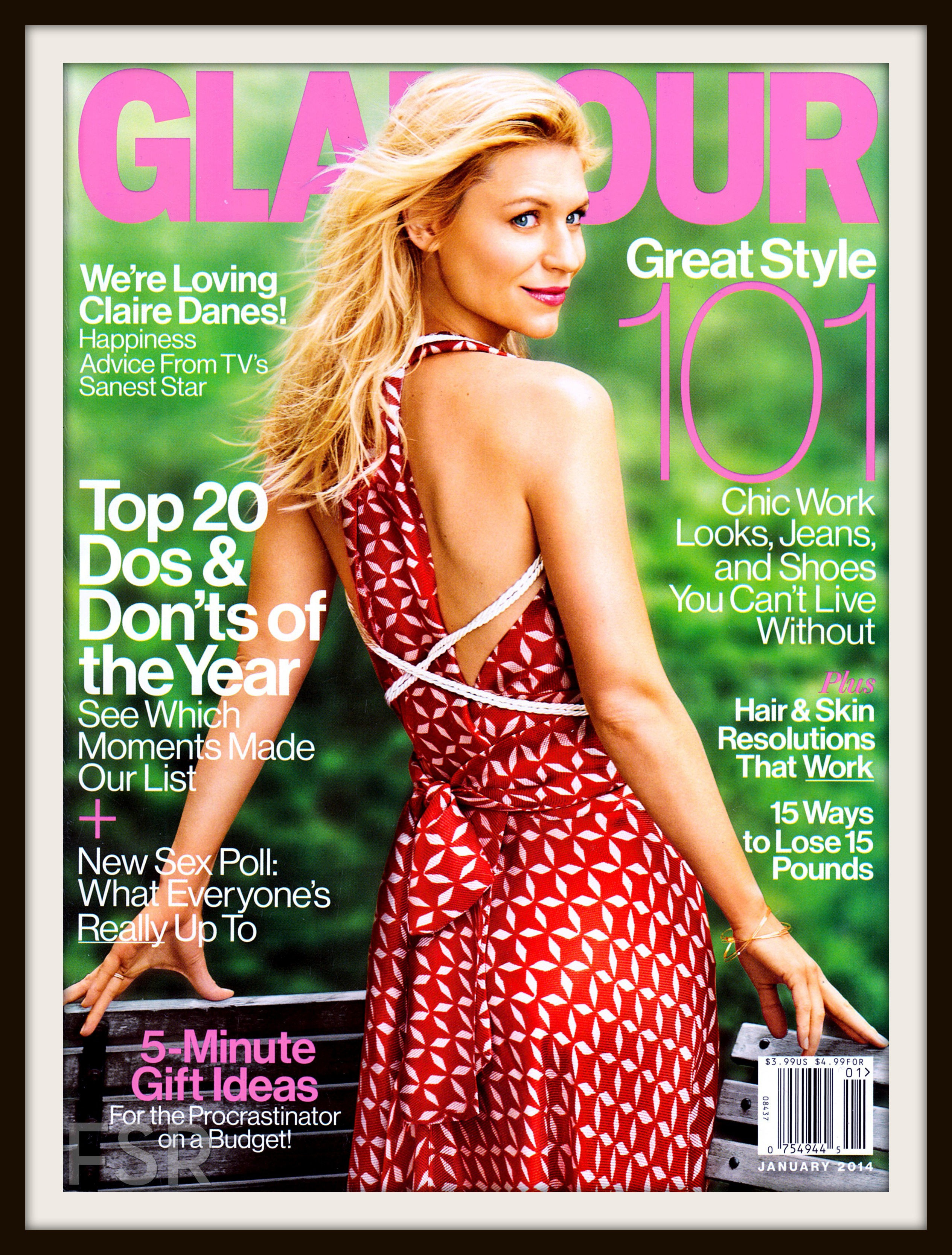 January 2014 cover, Glamour Magazine