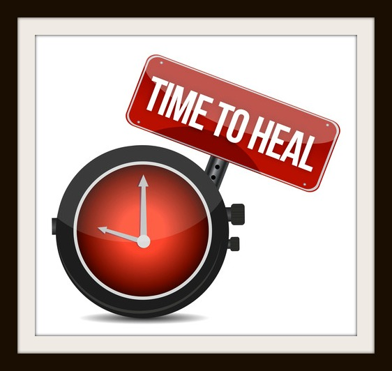 Time to HEAL illustration design over a white background