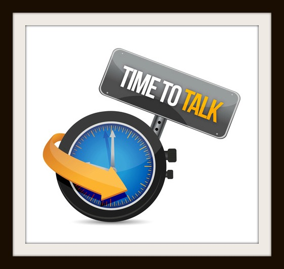 time to talk watch illustration design concept over white