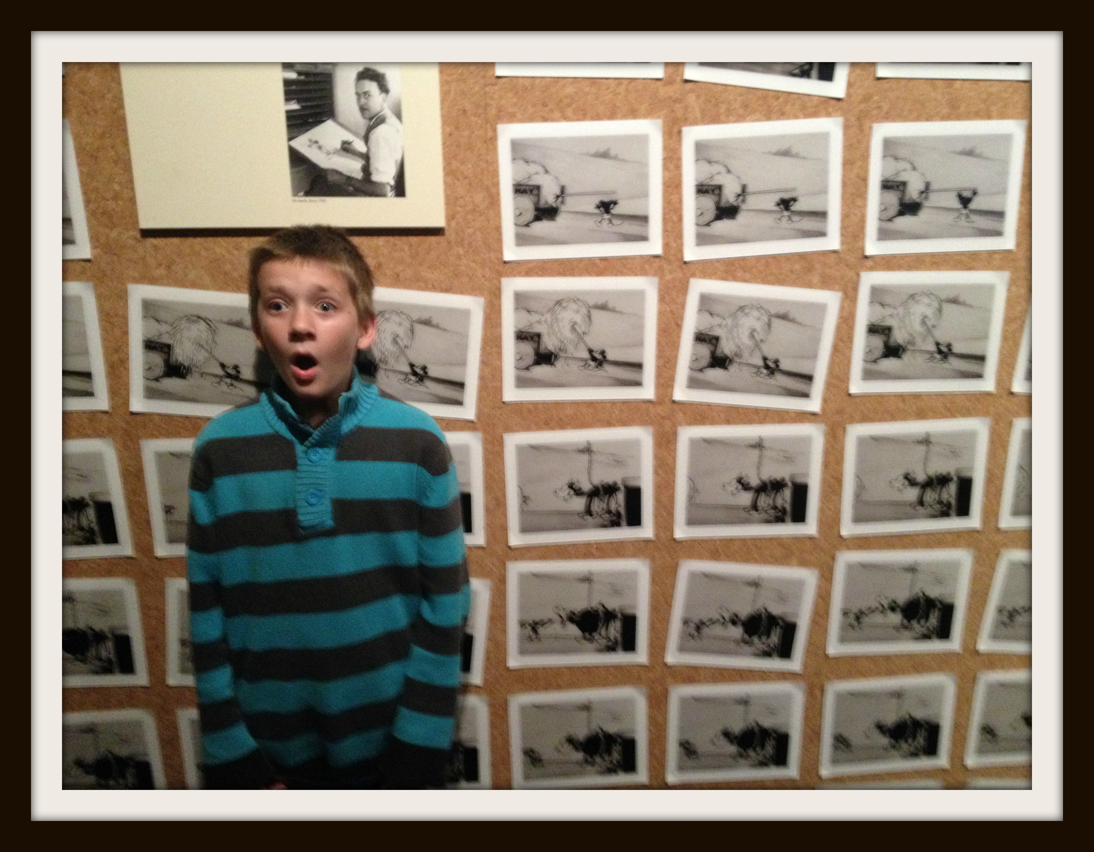 Noah, at the Disney Family Museum