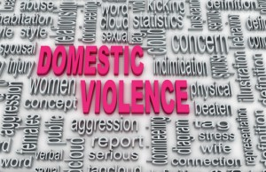 3d Concept diagram wordcloud illustration of domestic violence