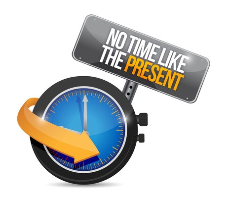 no time like the present. illustration design