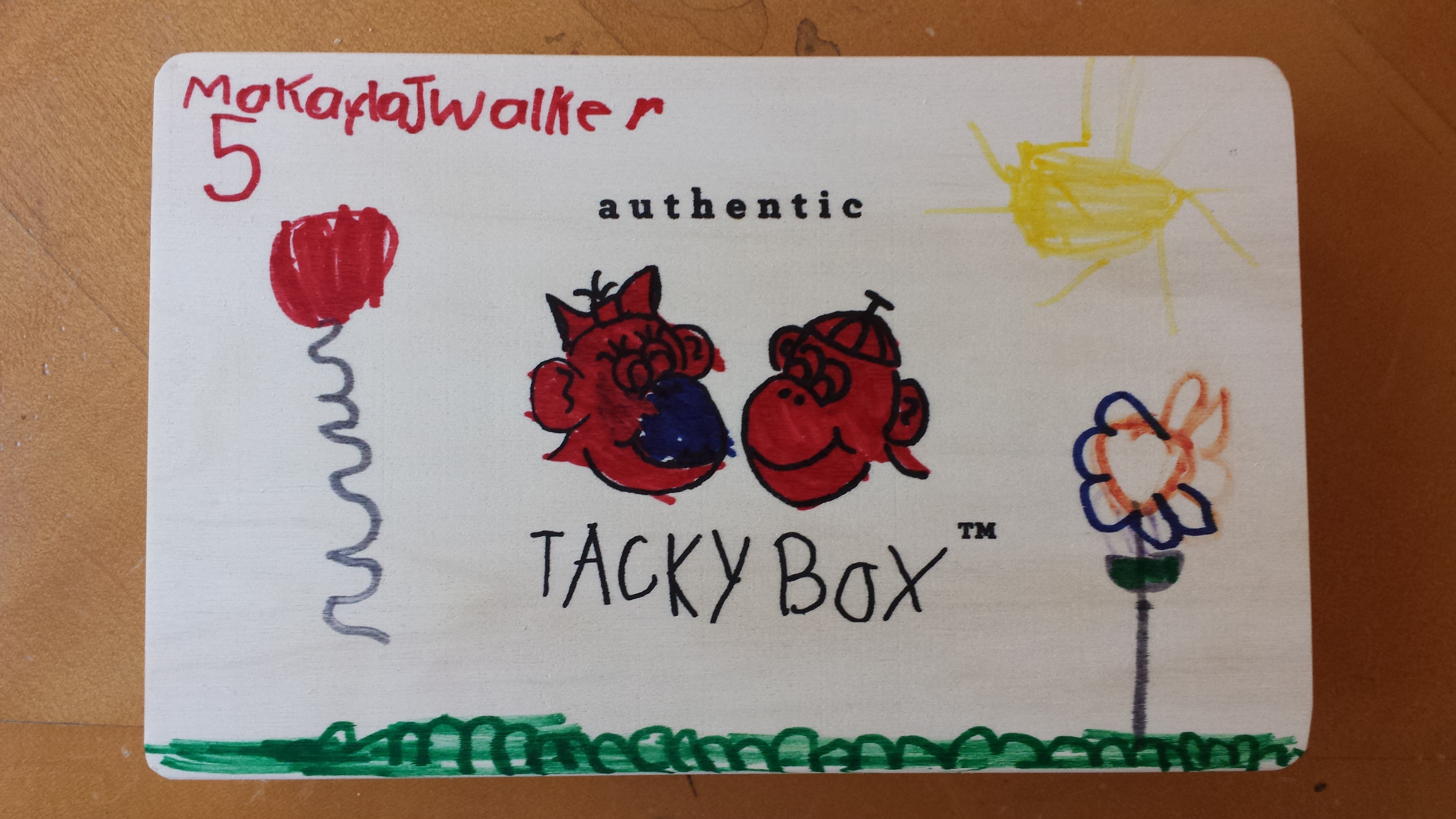 The front of Makayla's Tacky Box. Photo credit: Alexis Trass Walker