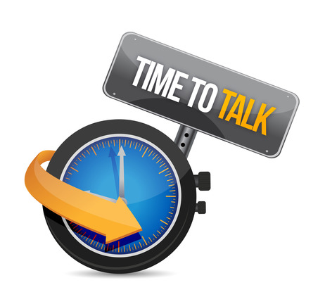 time to talk watch illustration design concept