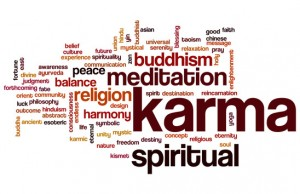 Karma word cloud