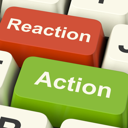 Action Reaction Computer Keys Shows Control Feedback And Response