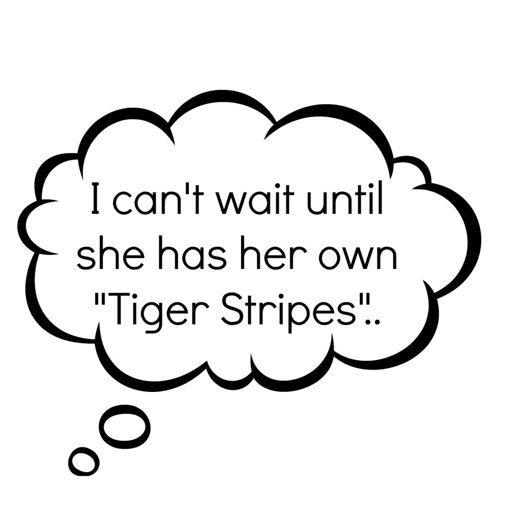 tiger stripes thought