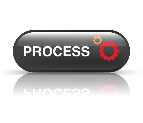 black process icon on white