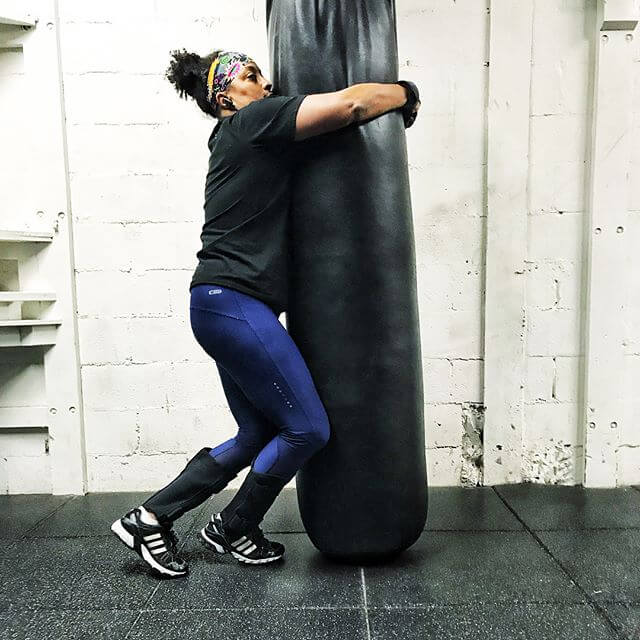 Me versus the heavy bag. Heavy bag won. For today. #ladimaxlifestyle #goodenoughmother #womensfitness #fitmom #fitover50 #womenshealth #womenandweights
